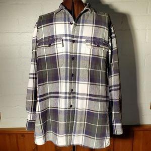 L.L.Bean blue plaid long sleeve flannel shirt XL